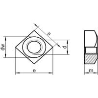 M8 Chamfered Square Nut A2 (T304) Stainless Steel Din 557
