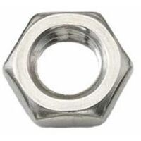 M6 A2 Stainless Steel half nut DIN439