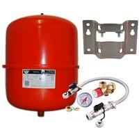 Zilmet - 18 Litre Red Heating Expansion Vessel & Sealed System Kit Z1-30101
