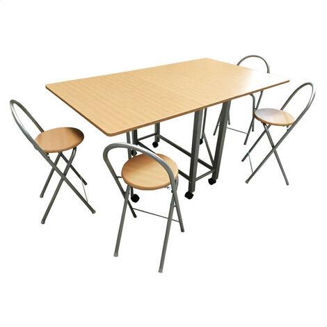 Conjunto libro mesa y cuatro taburetes
