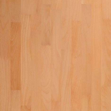 Solid Prime Beech Wood Worktop Upstand 3M X 80 X 18mm