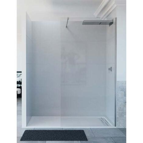 Mampara de ducha de 1 hoja fija - Modelo ARCOIRIS Medida (80 cm) - TRANSPARENTE