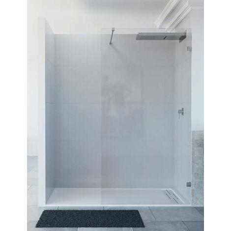 Mampara de ducha de 1 hoja fija - Modelo OLGA Medida (80 cm) - TRANSPARENTE