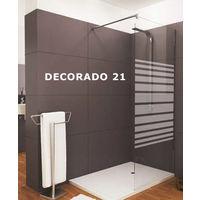 Mampara de ducha angular Corredera - de 2 hojas fijas y 1 puerta - Cristal 6 mm con ANTICAL INCLUIDO - Modelo SATELITE Medida (70 X 80) - TRANSPARENTE