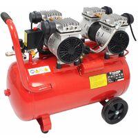Compresor de Aire, Silencioso, 2 Motores, 4 Cabezas, 4HP, 50L - MADER®   Power Tools