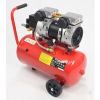Compresor de Aire, Silencioso, Cabezal Doble, 2HP, 24L - MADER® | Power Tools