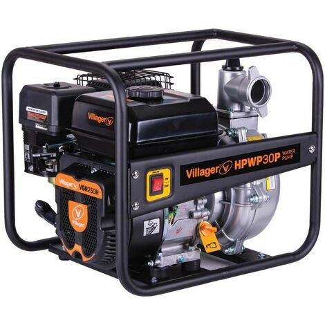 Motopompe thermique extrême pression 6,5 bars 212cc 30m3 heure Villager HPWP30P - Noir