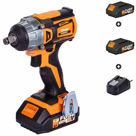 Clé à choc boulonneuse avec batteries et chargeur Fuse VLP 5320 Villager - Orange