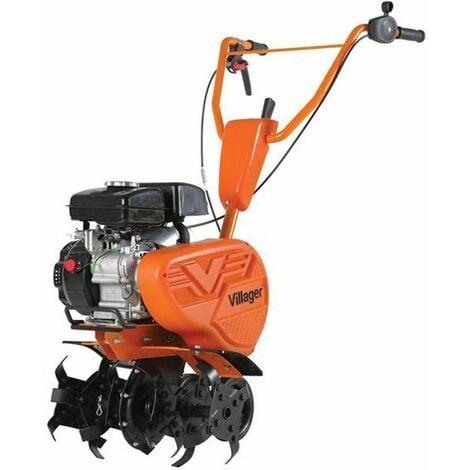 Motobineuse thermique 2,2cv petite largeur 4 fraises protèges plantes VILLAGER VTB 4310V - Orange