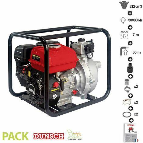 Motopompe thermique à forte pression 6,5 bars,débit de 30m3/h LEA LE71212-50H - Rouge