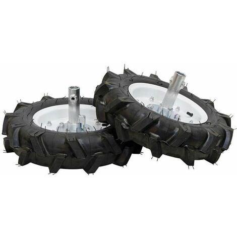 Roues agraires pneu 500x10 Texas pour motoculteur - Noir