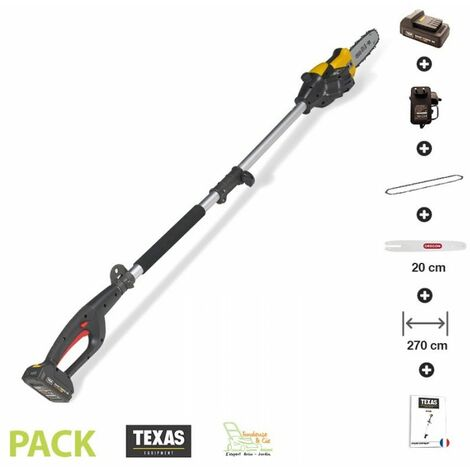 Elagueuse sans fil sur perche guide Oregon pack chargeur et batterie 18v inclus Texas Smart CS200