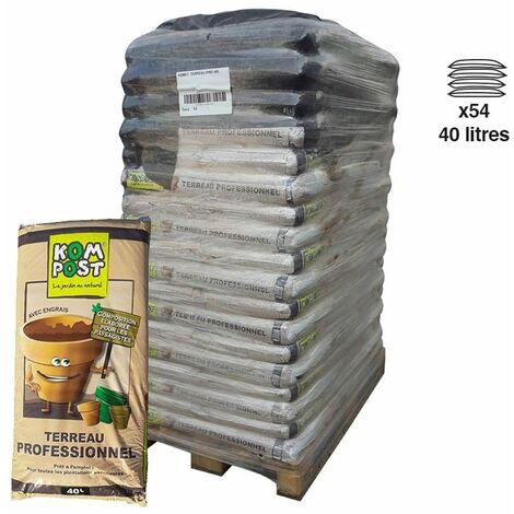 Terreau professionnel stimulateur plantation 54 sacs de 40 litres