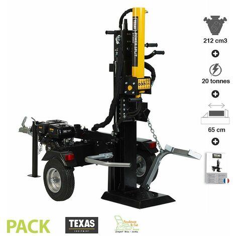 Fendeuse de bûches bois thermique 20 tonnes Texas Power Split 2100V