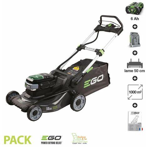 Tondeuse à gazon sans fil à batterie Ego Power coupe 50cm batterie 6AH chargeur rapide LM2024E - Gris