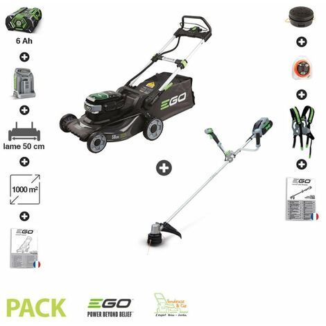 Pack tondeuse à batterie 6AH LM2024E et coupe bordure EGO POWER