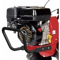 Motoculteur à fraise arrière moteur 7 Cv 212cc travail 48cm vitesse 1AV 1AR LEA 42212 - Rouge
