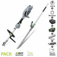 Pack taille haie sur perche à batterie et chargeur inclus Ego Power+ PH1400 HTA2000S - Gris