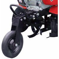 Motobineuse thermique transformable 212cc 5,6cv 2 vitesses AV 1 AR fraisage jusqu'à 88cm LEA LE42212-80W21 - Rouge