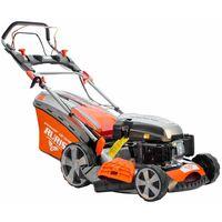Tondeuse à gazon thermique tractée 3,5 cv 139 cc coupe 46 cm Ruris RX300S - Orange
