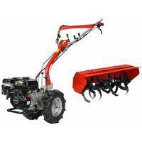 Motoculteur diesel 5,9 CV 2 AV 2 AR rotovator DU45296MF Dunsch - Rouge