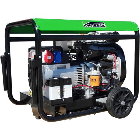 Generador eléctrico 12800w (16 kVA) 400-230v Trifásico Arranque Eléctrico Diésel Grupo electrógeno INMESOL AL-1500
