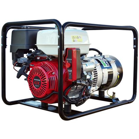 Generador eléctrico Honda 7000w (7 kVA) 230v Monofásico Arranque Eléctrico Gasolina Grupo electrógeno INMESOL AH-700-E