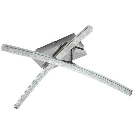 LED Deckenleuchte Laurenzia Chrom Dimmbar über Schalter Lampenwelt Deckenlampe