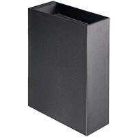 Lindby Ugar LED-Außenwandleuchte, 4,8 cm up/down