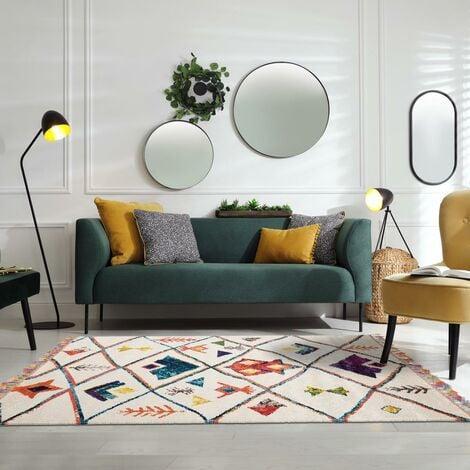 40x60 un amour de tapis petit tapis entree interieur tapis moderne pour salon design scandinave berbere blanc