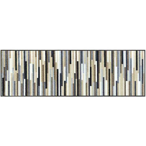 Paillasson 75x120 cm Rectangulaire MIKADO STRIPES TX Beige Entrée adapté au chauffage par le sol