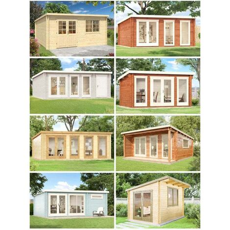 Gartenhaus Atrium-F , ohne Imprägnierung , Ohne Schutz-Imprägnierung:Ohne Schutz-Imprägnierung|Wandstärke:70 mm Wandstärke