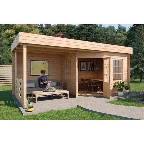 Gartenhaus Modell Hanna-40 , ohne Imprägnierung , ohne Farbbehandlung , Imprägnierung ab Werk:ohne Imprägnierung