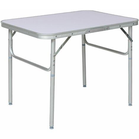 Camping Klapptisch aus Aluminium 75x55x68cm - Camping Tisch, Outdoor Tisch, Campingtisch klappbar - grau