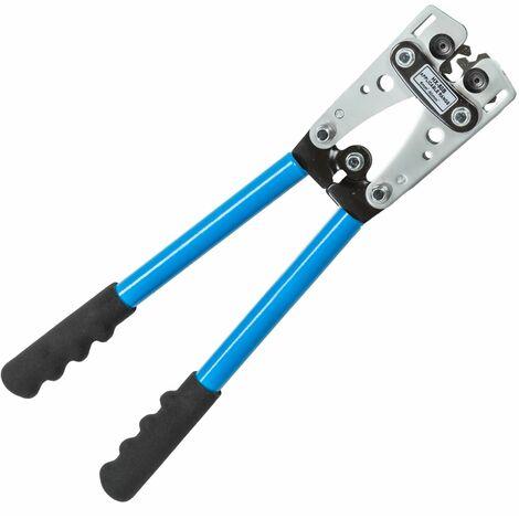Crimpzange 6-50 mm² - Handzange, Kabelschuhzange, Quetschzange - blau