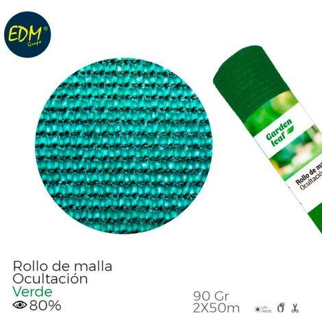 ROLLO MALLA VERDE 80% 90GR 2X50MTS