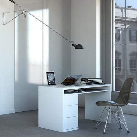 Weißer Schreibtisch Modernes Design mit 3 Schubladen Franklyn