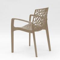 Sessel Stühle Gartenstühle Terrasse Grand Soleil Gruvyer Arm | Beige