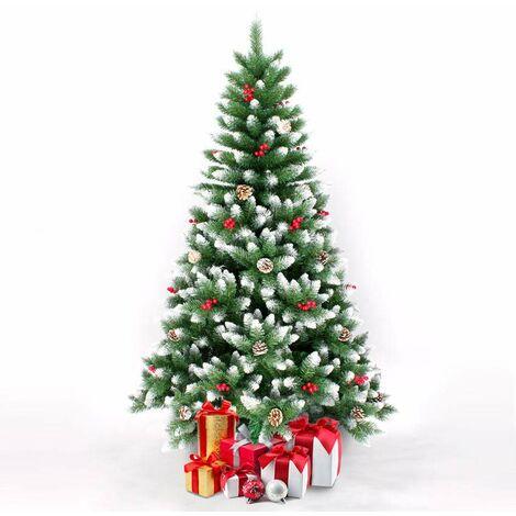 Árbol de Navidad artificial de 210 cm decorado con adornos ROVANIEMI