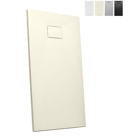 Plato de ducha a ras de suelo rectangular de resina 150x70 Stone   Color: Beige