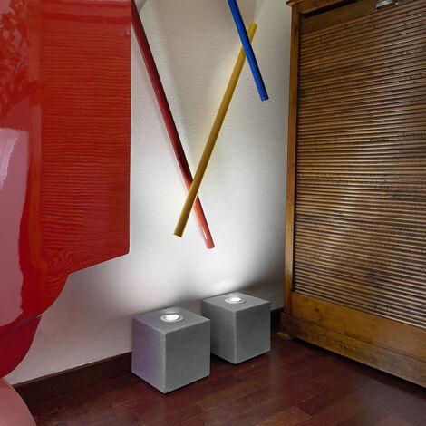 Lámpara de pie de mesa de diseño cubo Slide Block Rock