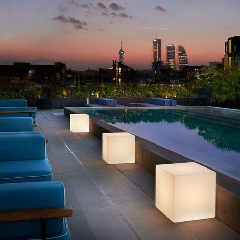 Lámpara de pie diseño moderno y contemporáneo Slide Cubo | Talla: 30