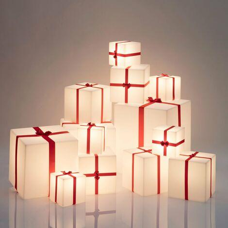 Lámpara de pie de mesa de Paquete de Navidad Slide Merry Cubo | Talla: 20