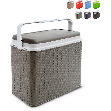 Nevera portátil de 24 litros y rígida ratán Adriatic Midollino | Gris