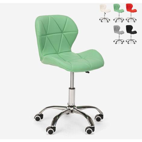 Silla giratoria taburete oficina altura regulable con ruedas Ratal | Verde oscuro