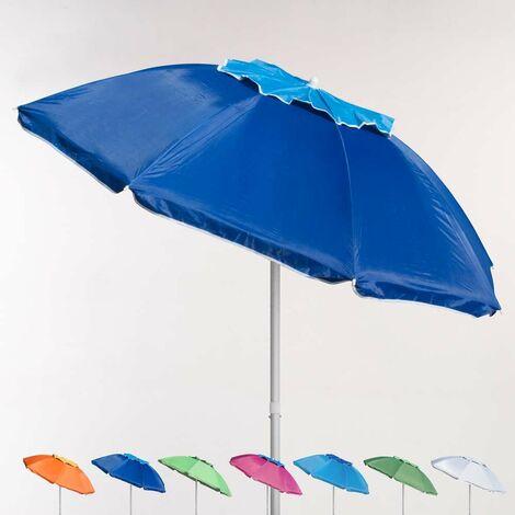 Sombrilla de playa aluminio antiviento protección uv 200 cm Corsica | Azul Marino