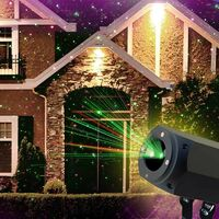 Proyector Luz Láser Led Navidad Fachada Christmas con Panel Solar
