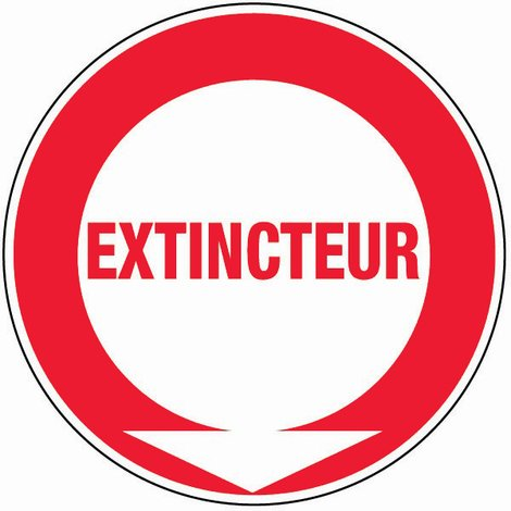 Panneau Extincteur (texte) - Rigide Ø80mm - 4020136