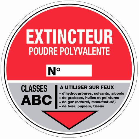 Panneau Extincteur poudre - Rigide Ø180mm - 4040226