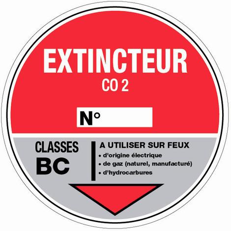 Panneau Extincteur CO2 - Rigide Ø180mm - 4040233